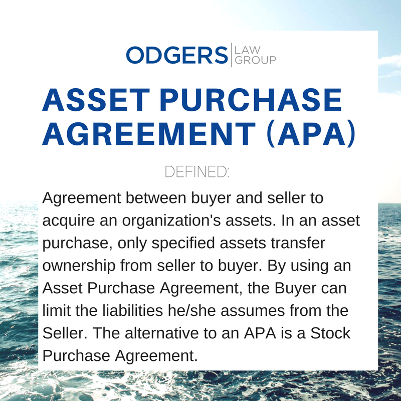Definition of Asset Purchase Agreement