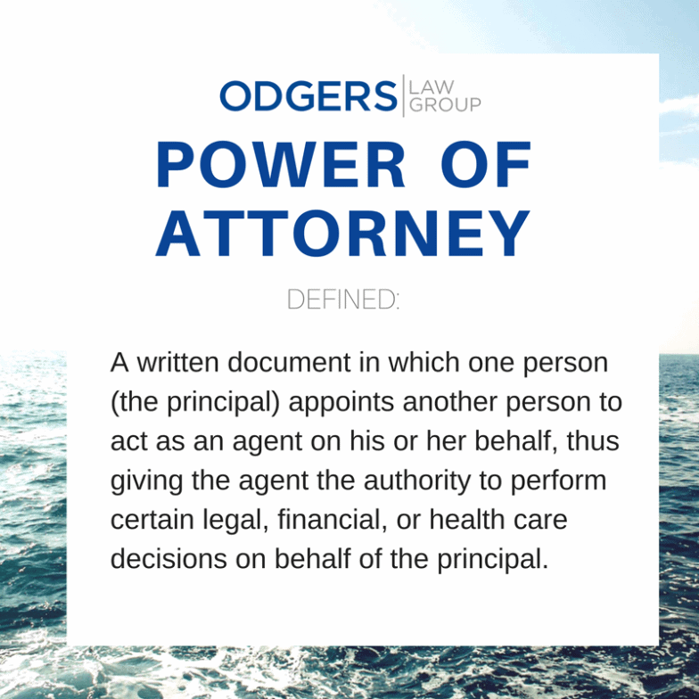 Definition Power of Attorney